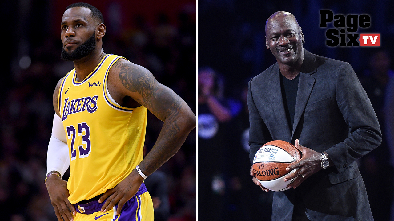 0c2ba28fc1b028 LeBron James and Michael Jordan s rivalry heats up