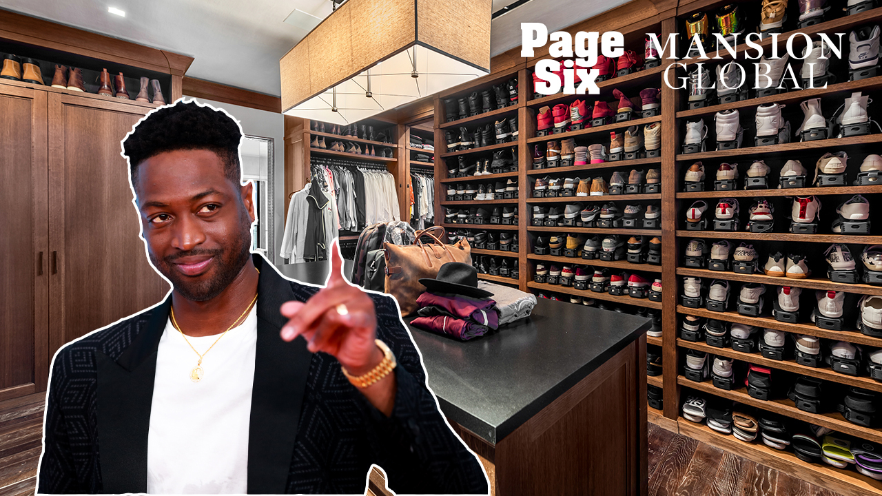 Dwyane Wade's $29M home has room for his massive shoe collection