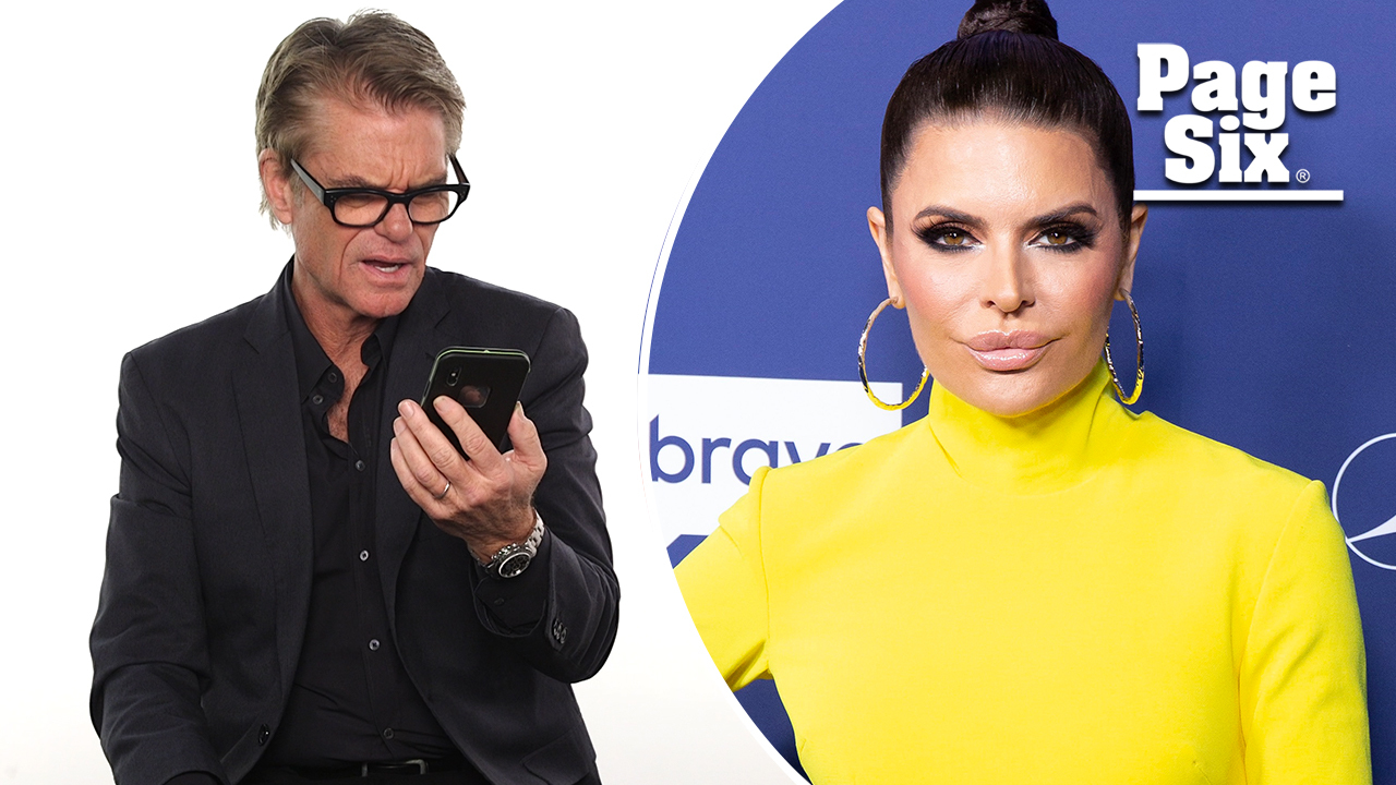Harry Hamlin reacts to wife Lisa Rinna's dance on Instagram
