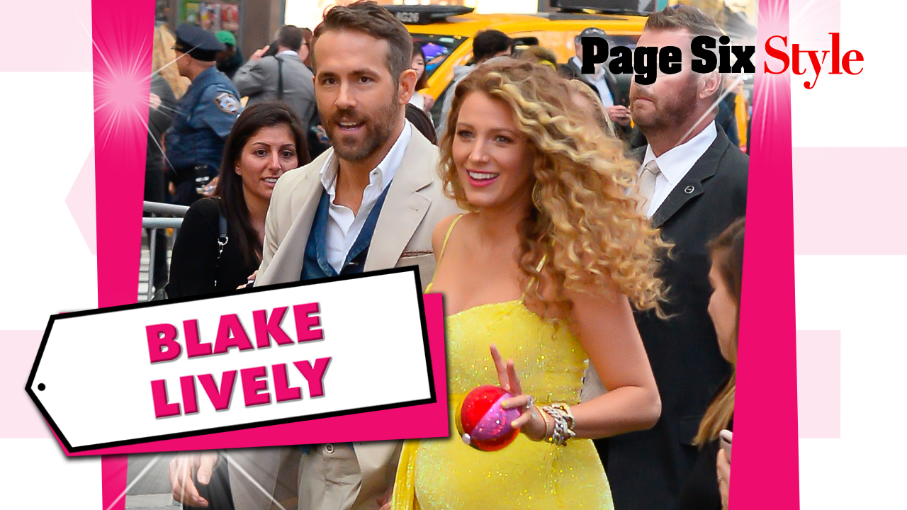 Blake Lively debuted her baby bump in a look worth around $5K