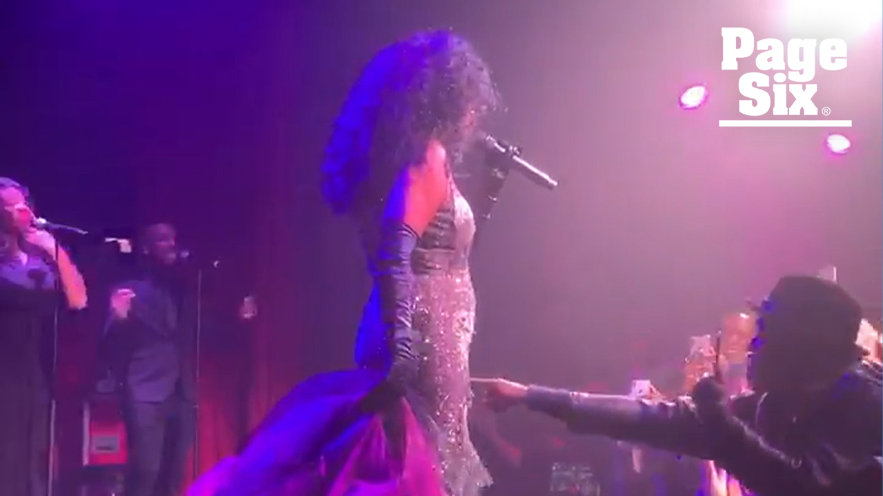 8c12975394 Fan booted after trying to push Diana Ross during surprise concert