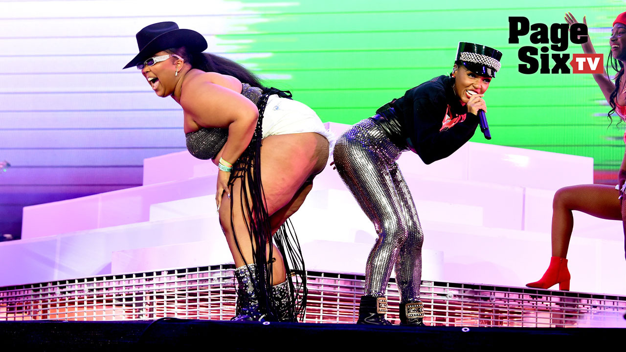 Fans freak out over Lizzo and Janelle Monae's booty bump