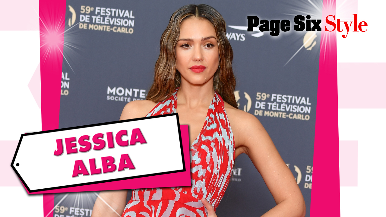 Jessica Alba takes the plunge in a $5,600 printed look