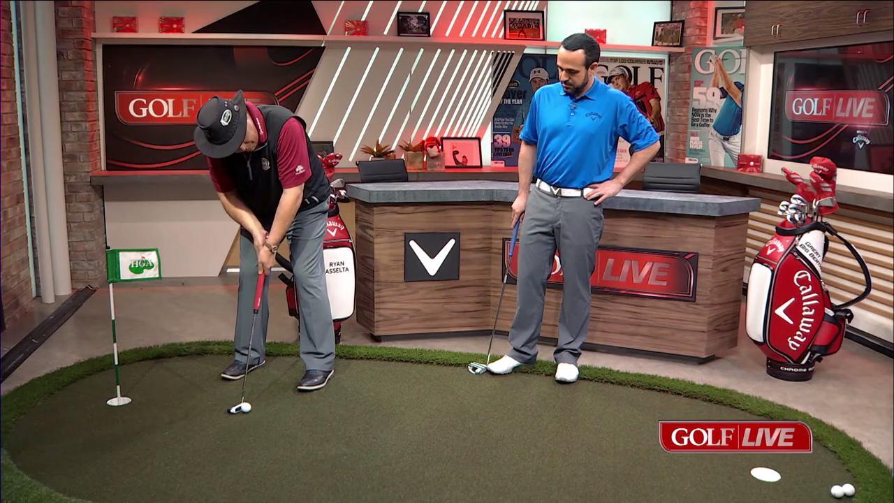 Use a left-hand-low grip to increase your control around the green