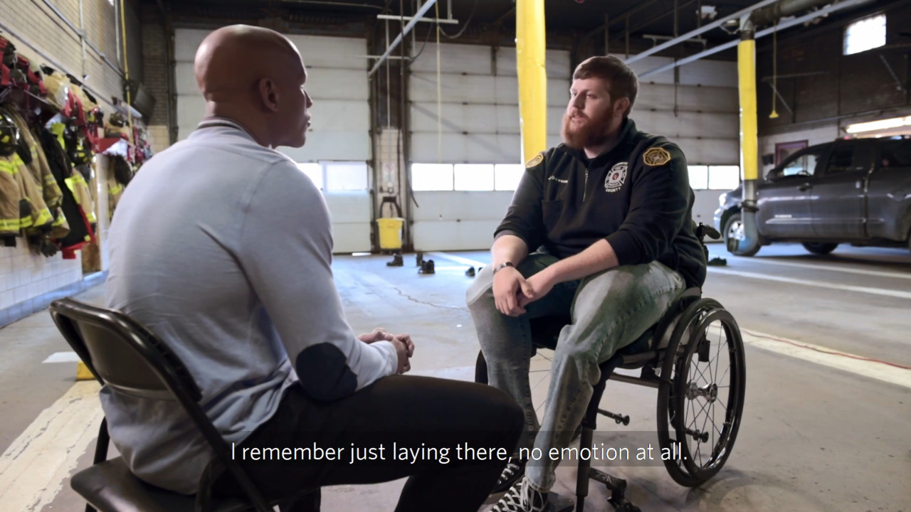 Still Fighting: After Losing Legs in Crash, Firefighter Refuses to Give in