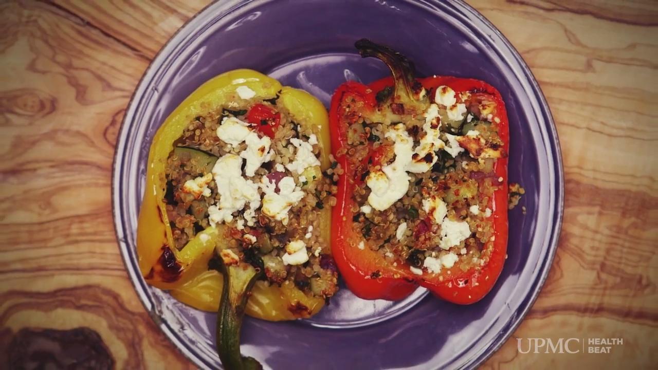 Video Recipe: Quinoa and Veggie-Stuffed Peppers