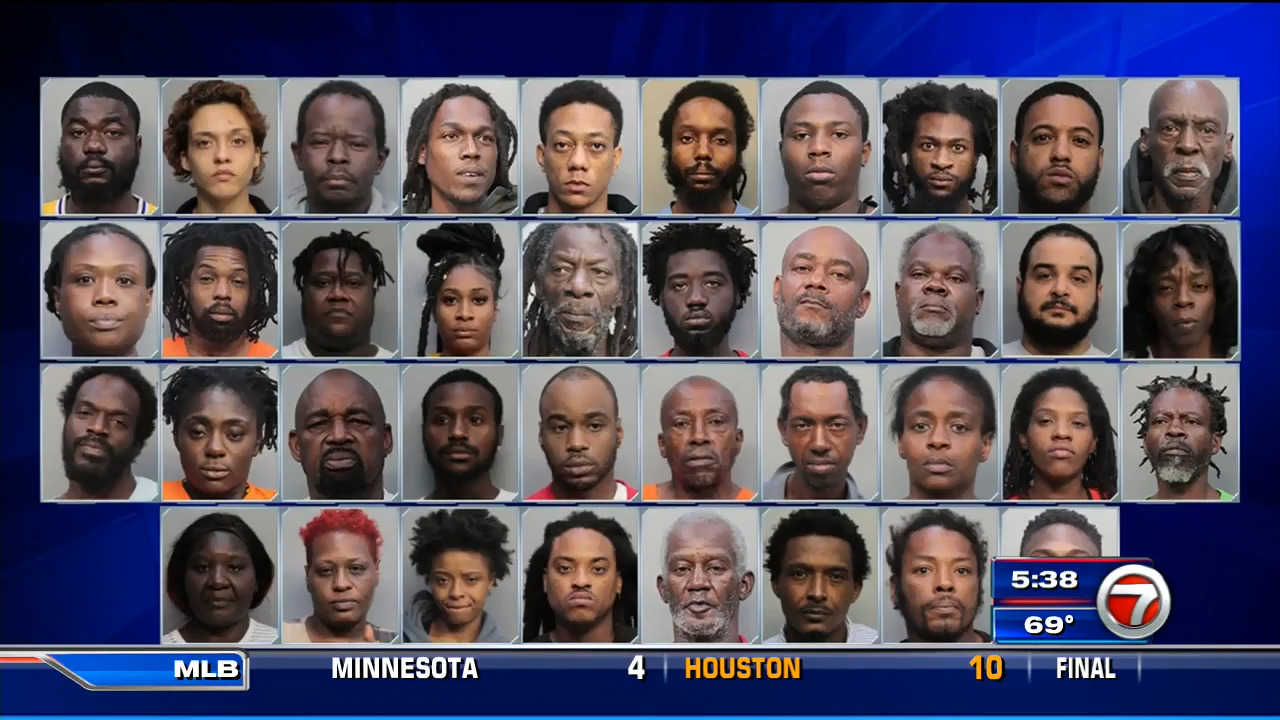 U S  Marshals and Miami-Dade Police arrest 38 following