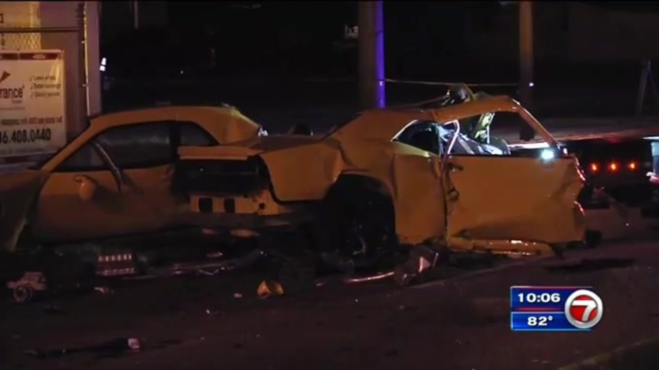 Driver Killed After Challenger Crashes Into Concrete Metrorail Post