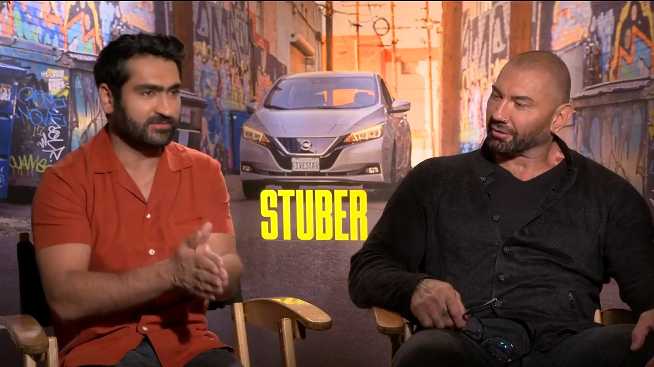 Deco discusses Uber etiquette with the cast of 'Stuber