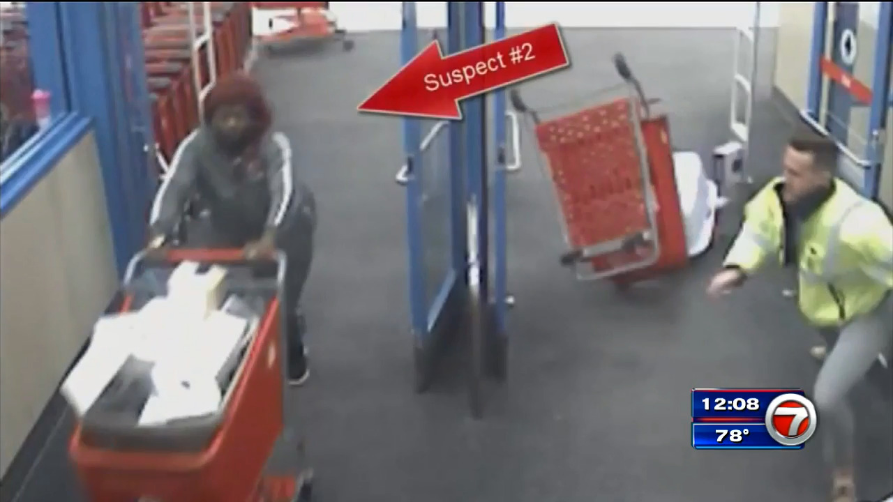 Target employee caught on camera trying to stop shoplifters