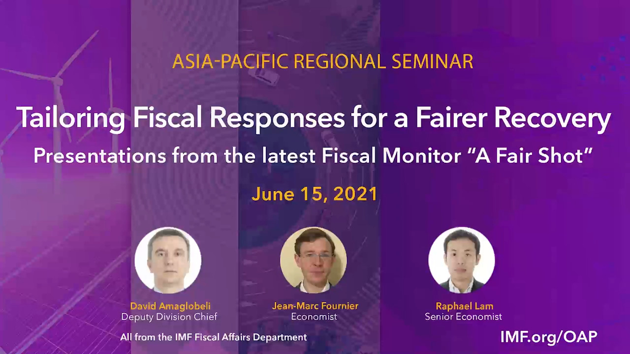 Seminar on Tailoring Fiscal Responses for a Fairer Recovery