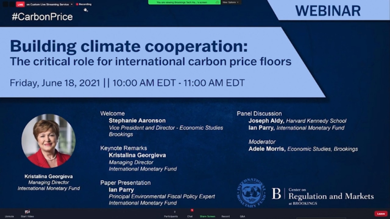 Building Climate Cooperation: The Critical Role for International Carbon Price Floors