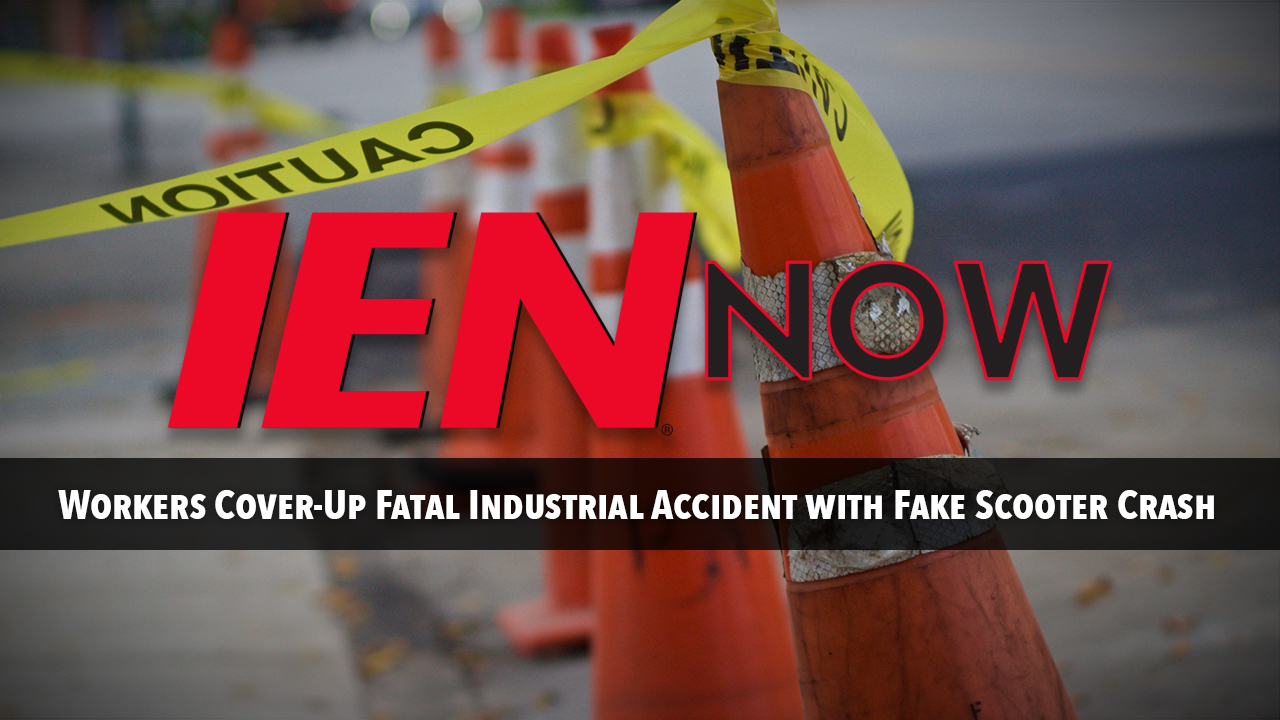 Workers Cover Up Fatal Industrial Accident with Fake Scooter