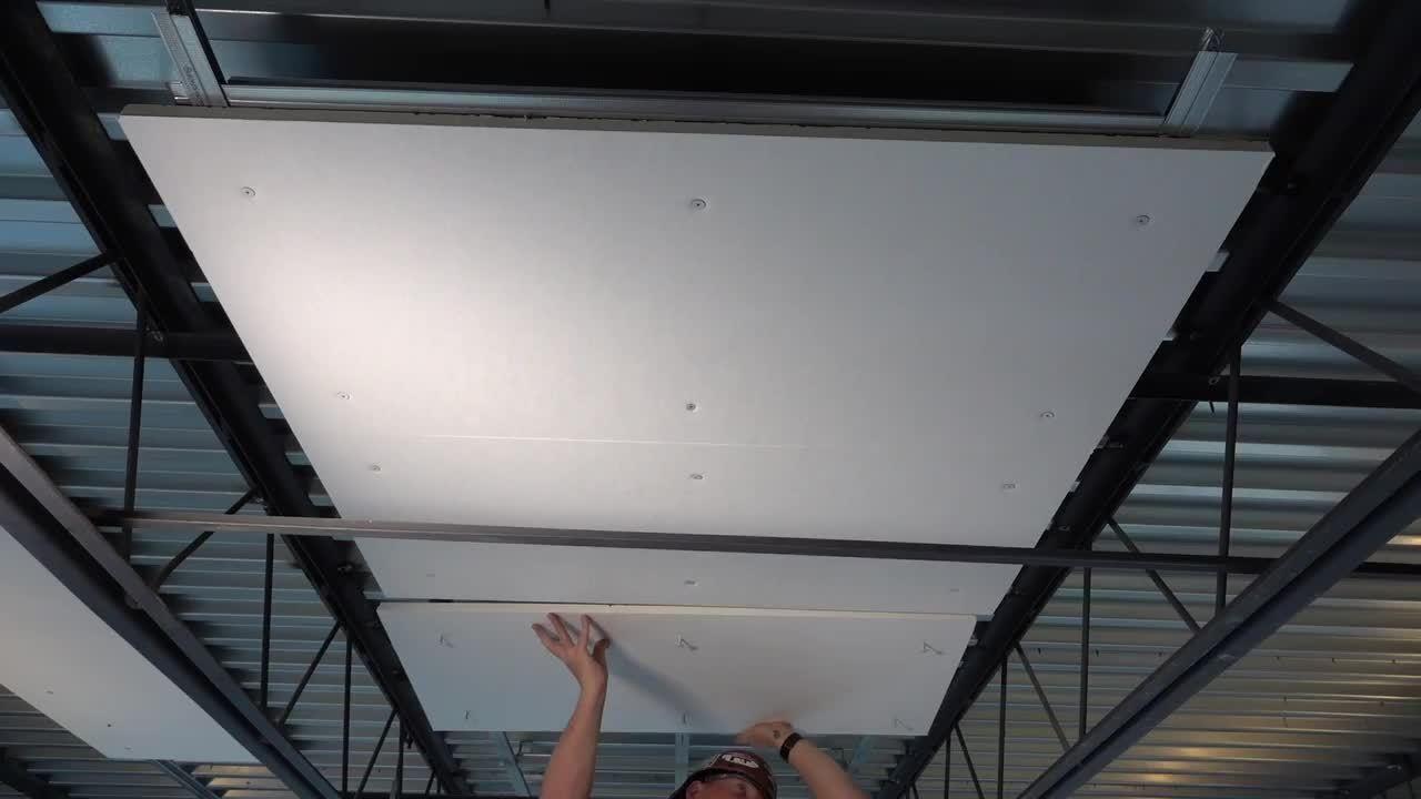 Installing ACOUSTAFFIX Ceiling Panels