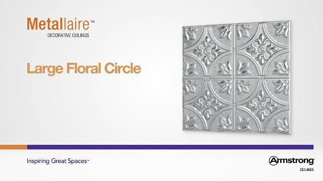 Metallaire - Large Floral Circle