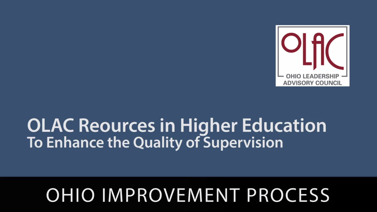 OLAC Resources in Higher Education: Support for Understanding Ohio's Improvement Process - Preview