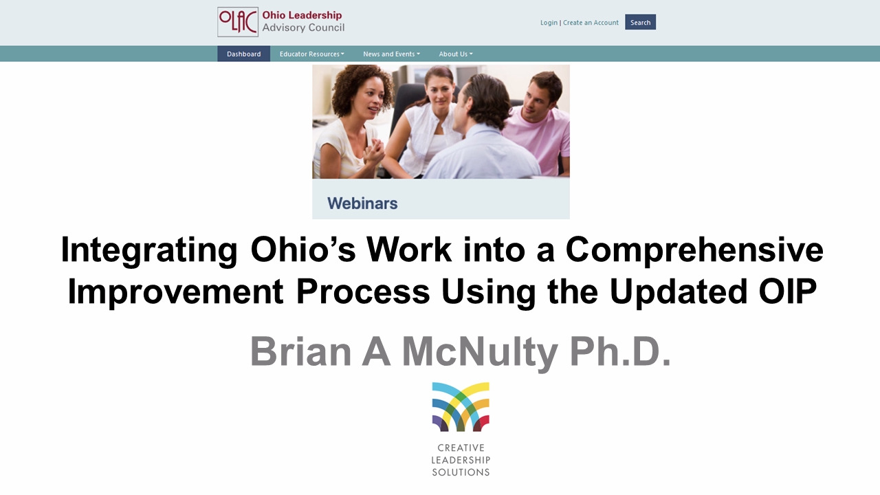 Integrating Ohio's Work into a Comprehensive Improvement Process Using the OIP - Preview