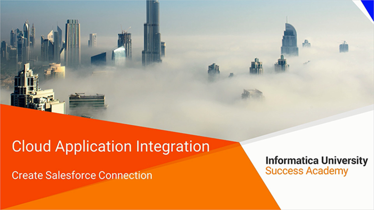 Create Salesforce Connection With Informatica Cloud Application Integration
