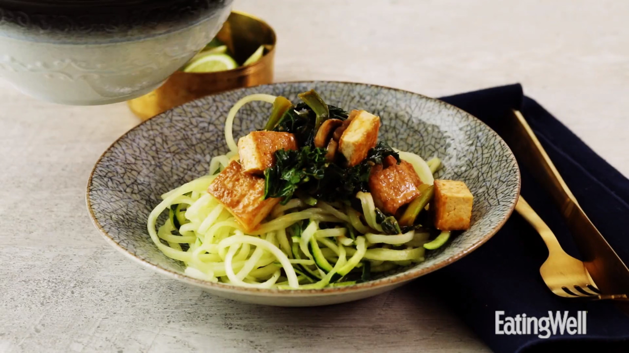 How to Make Thai Tofu & Vegetable Curry with Zucchini Noodles