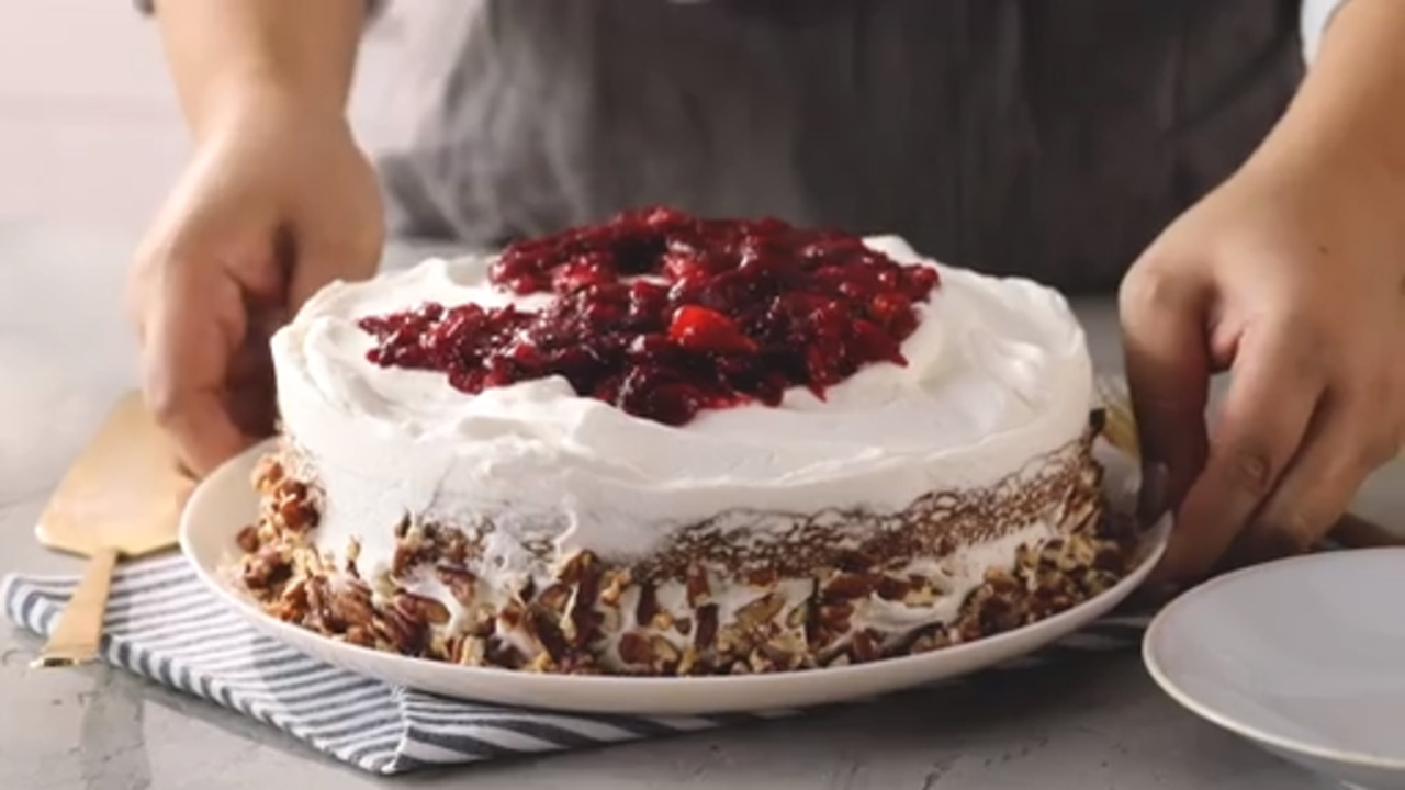 How to Make Apple Spice Cake with Cranberry-Mandarin Compote
