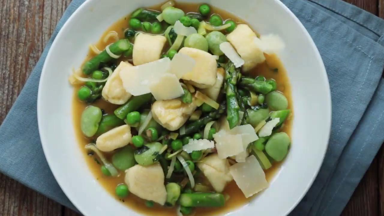 How to Make Ricotta Gnocchi with Spring Vegetables