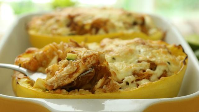 Chicken Enchilada Stuffed Spaghetti Squash Recipe Eatingwell