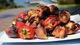Brochettes de St-Jacques et figues au bacon