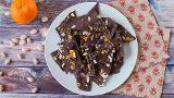 Blueberry, coconut and pistachio chocolate bark