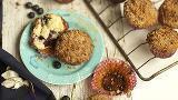 Muffins de moras con canela