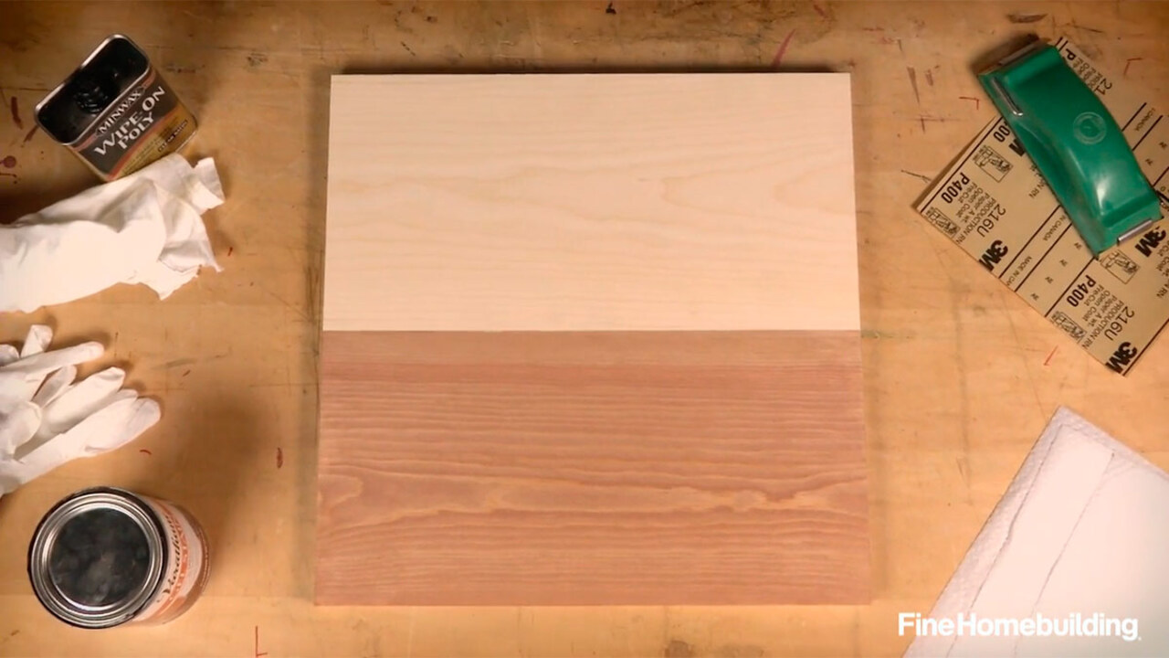 How To Stain Pine Fine Homebuilding
