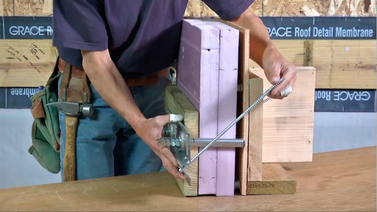 Attach a Deck Ledger Over Brick, Foam, and Other Thick Claddings
