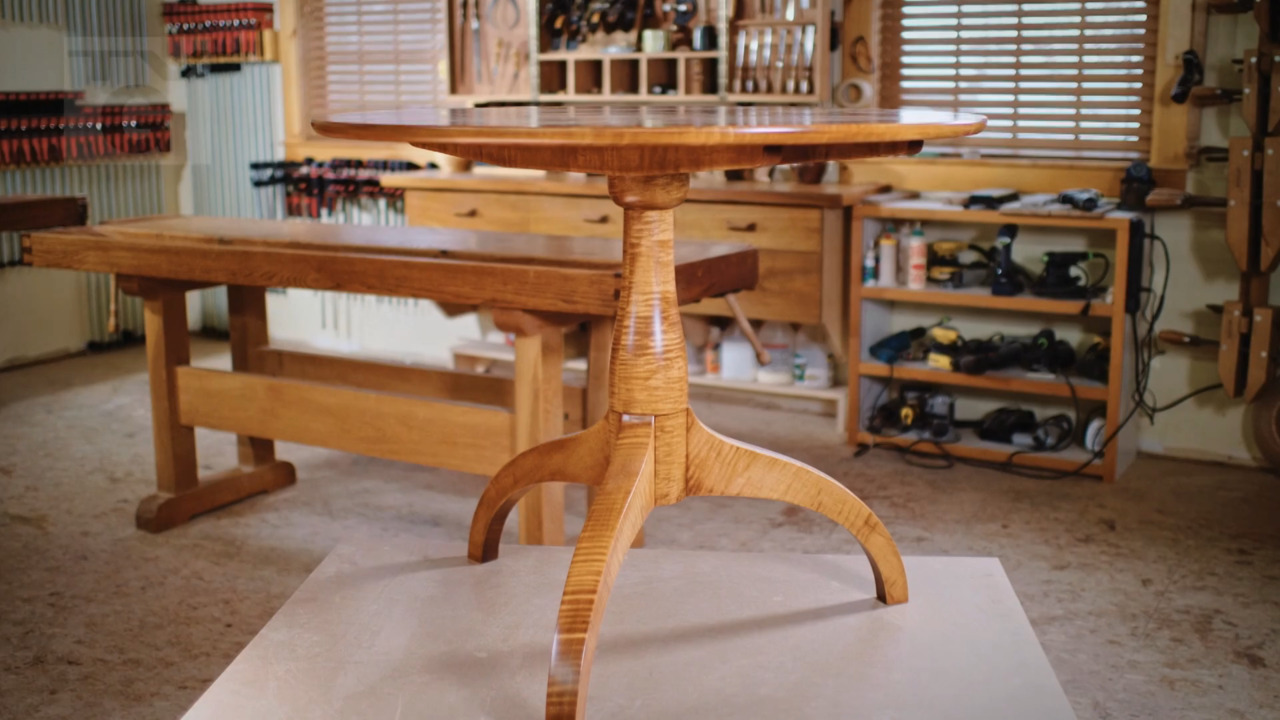 Classic Woodworking: Tilt-Top Maple Table (111)