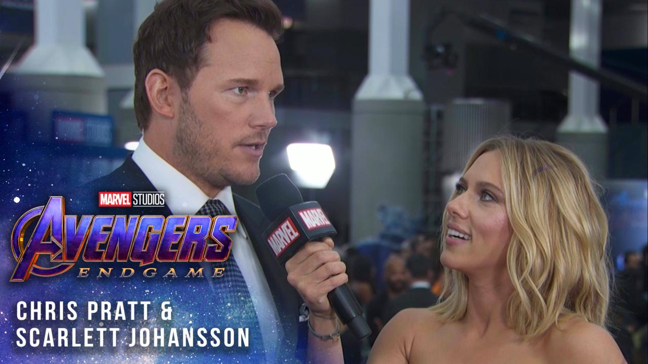 Scarlett Johansson Chris Pratt Take Over At Avengers Endgame Live Premiere Marvel