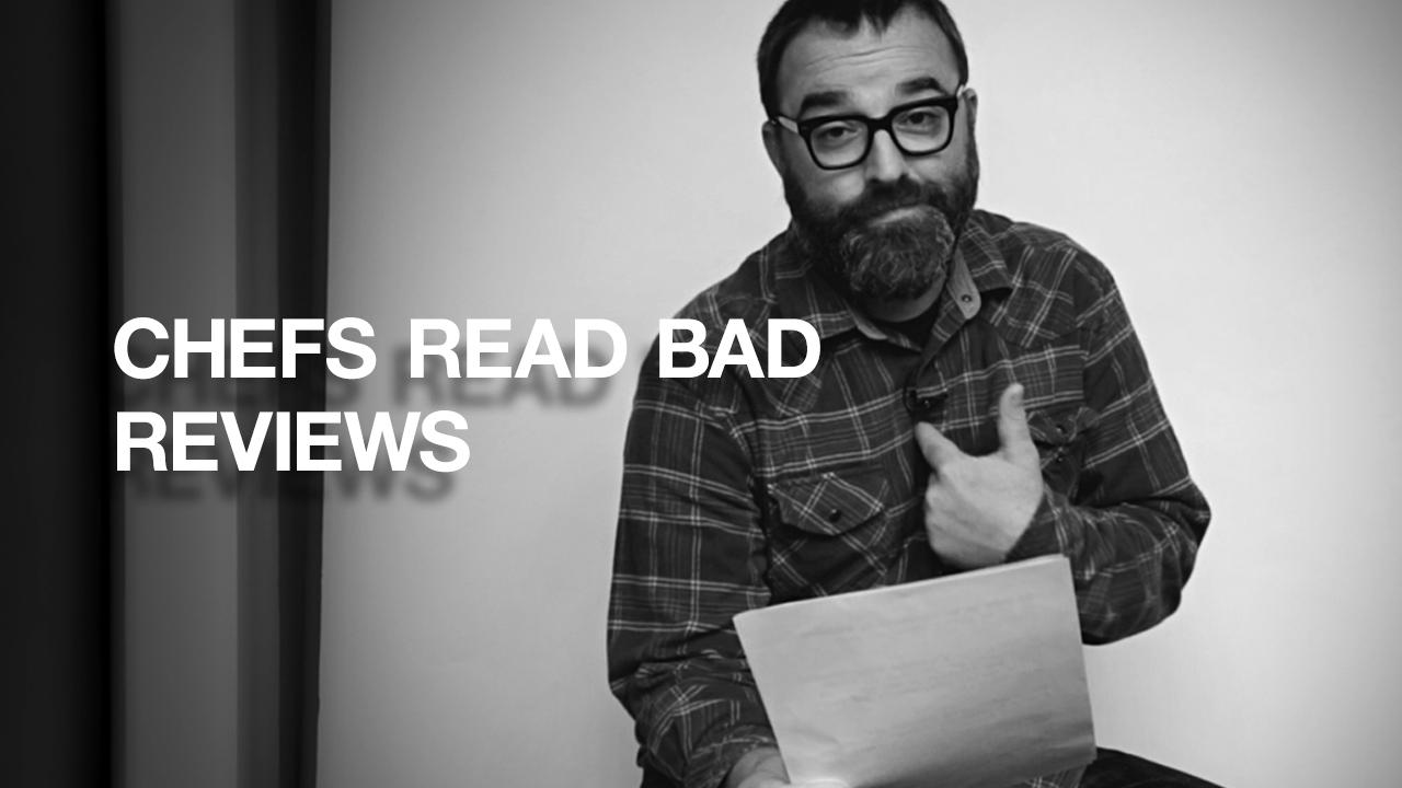 """Boring, tasteless, and uninspired."" | Chef Josh Henderson | Chefs Read Bad Reviews"