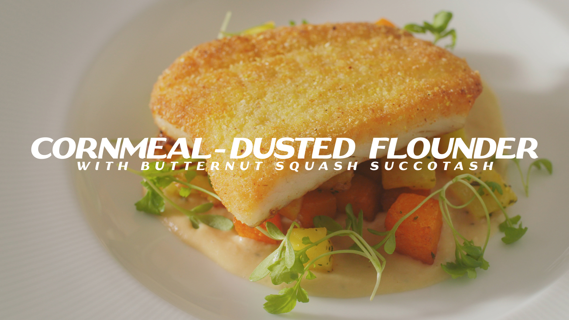Pure Pairing | Flounder and Fall Succotash