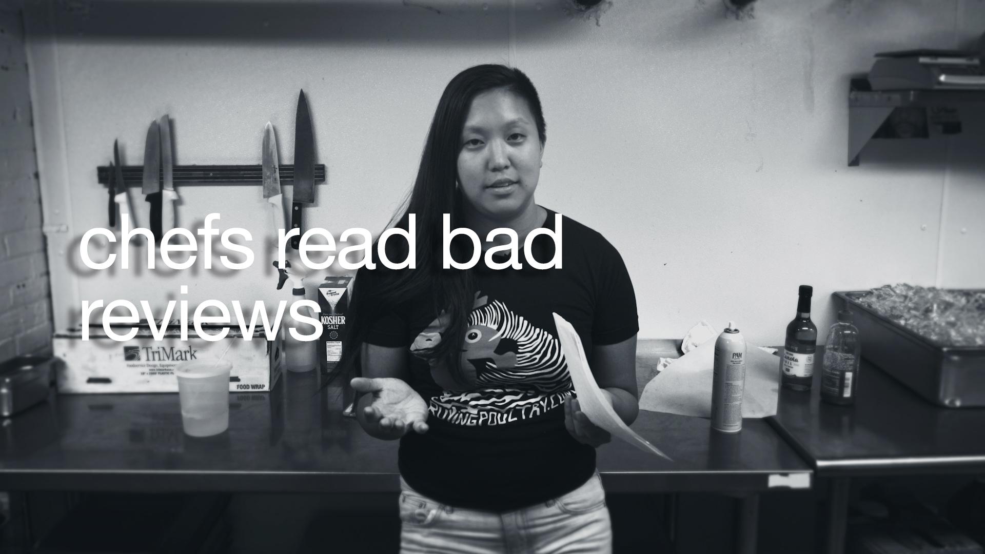 """More like 'meh meh' restaurant.""   Chef Irene Li   Chefs Read Bad Reviews"