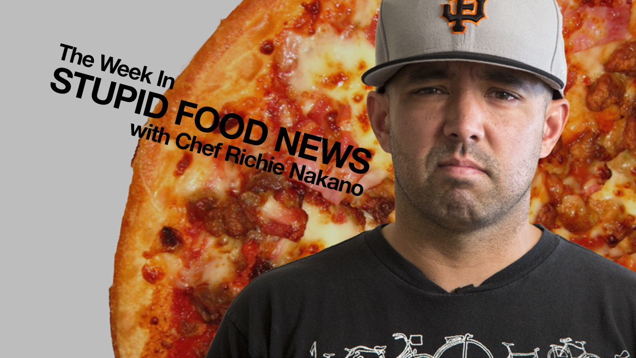 The Week in Stupid Food News w/ @linecook: Pizza Launcher IRL, Spray Cake, Richielent