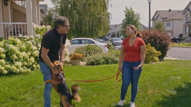 Visite de Sawyer après son adoption