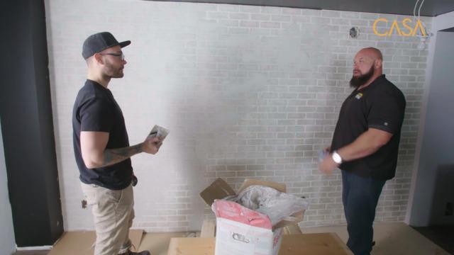 «Texturer» des panneaux de fausses briques