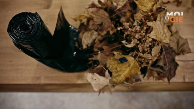 L'utilisation de sacs à ordures dans la forêt
