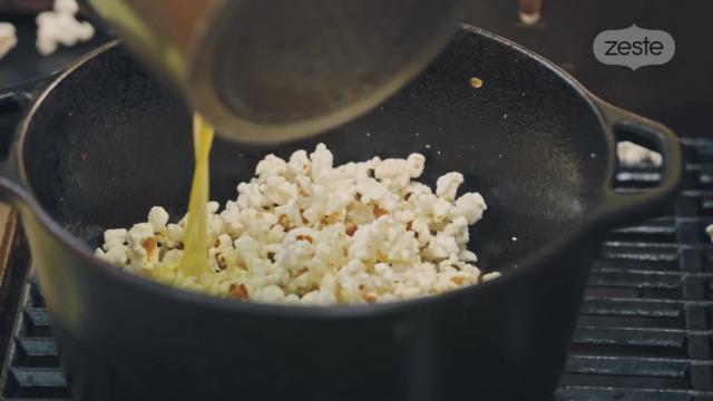Pop-corn sur le BBQ