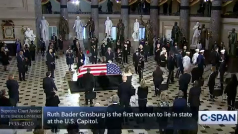 Ginsburg becomes first woman to lie in state at U.S. Capitol