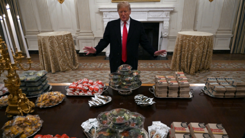 Trump has a fast food smorgasbord planned for Clemson, but no Taco Bell
