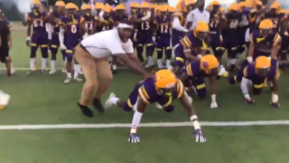 This high school football team might have the most intimidating entrance