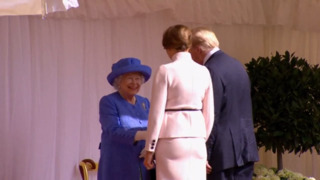 Queen Elizabeth welcomes President Trump, First Lady to Windsor Castle