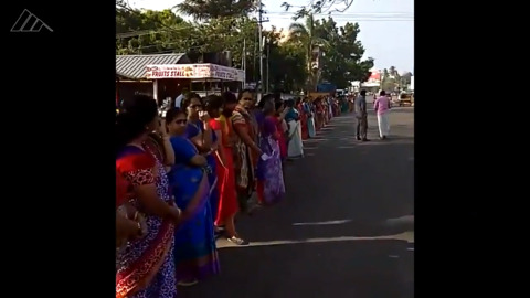 Women form 370-mile human wall for gender equality in India