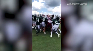 Redskins, Jets joint practice turns to into brawl on field
