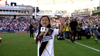 'Tiny but mighty' 7-year old girl leaves players, fans stunned with amazing national anthem rendition at Seattle Sounders game