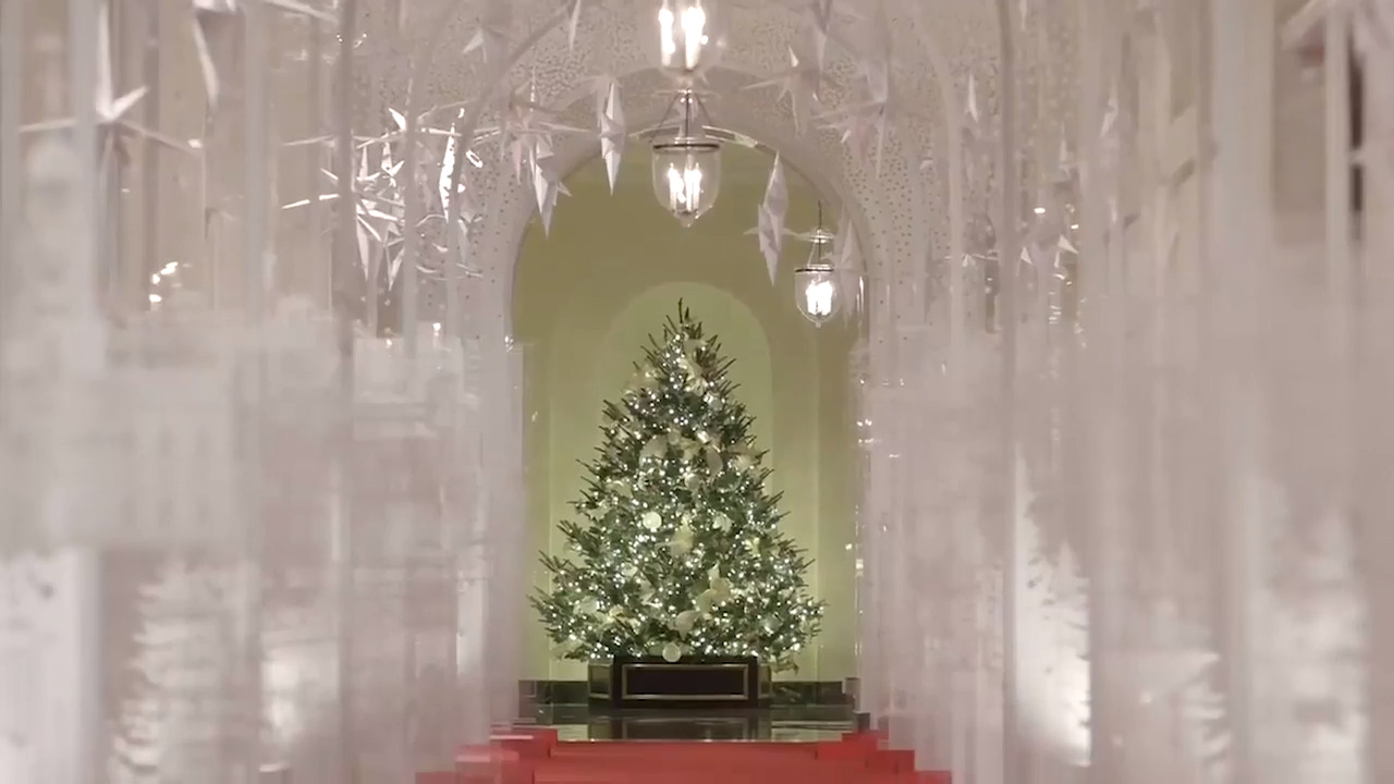 First Lady Shows Off White House Christmas Decorations For
