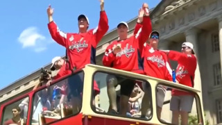 Washington Capitals parade through DC to celebrate Stanley Cup win